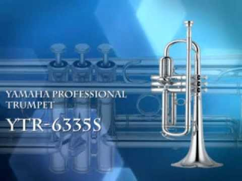 YAMAHA YTR 6335S PROFESSIONAL Bb TRUMPET, GOLD BRASS LEADPIPE, SILVER  LACQUER FINISH