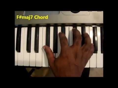 How To Play Fmaj7 Chord F Sharp Major Seven On Piano Keyboard