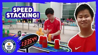 The Speed Stacking King! - Guinness World Records