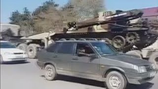 Azerbaijan deploys military vehicles after fighting breaks out in Nagorno-Karabakh