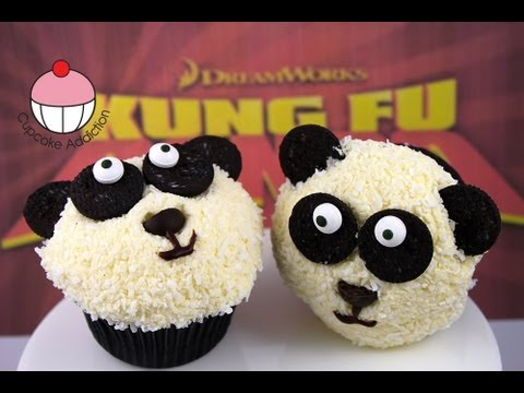 "Panda Cupcakes - Make ""Kung Fu"" Panda Cupcakes - A Cupcake Addiction How To Tutorial"