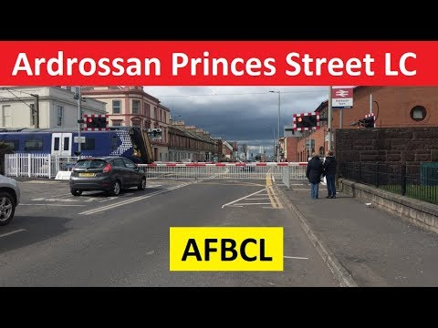 Ardrossan Princes Street Level Crossing **The First AFBCL** - Ayrshire Coast Line -  North Ayrshire