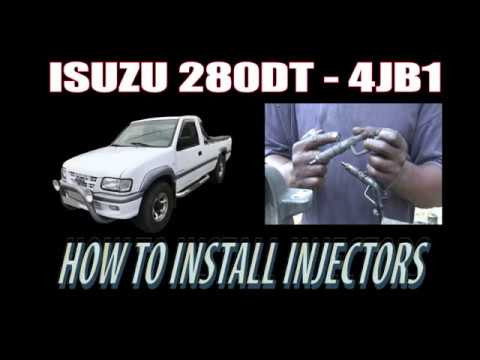 ISUZU 280DT ( 4JB1) – HOW TO INSTALL INJECTORS
