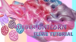 DIY RUBBER UNICORN COLOR SLIME TUTORIAL WITHOUT METALIC POWDER - BHS INDONESIA