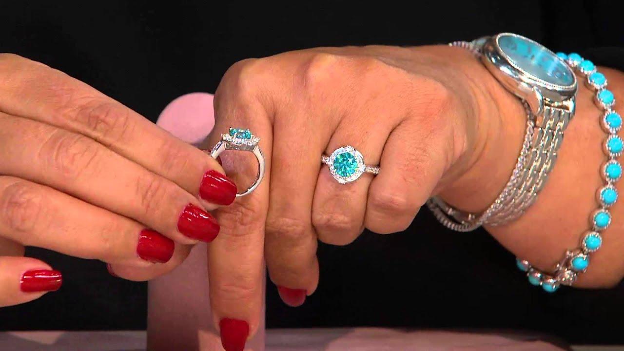 Diamonique Halo Ring