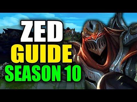 SEASON 10 ZED GAMEPLAY GUIDE - (Best Zed Build, Runes, Playstyle) - League Of Legends
