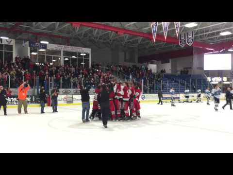 Romeo players share state title with student section