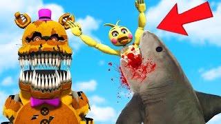 ultimate nightmare animatronic shark gun mod gta 5 mods fnaf funny moments