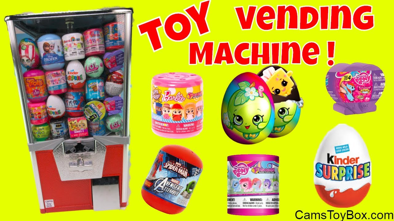 Squishy Pop Eggs : Toy Vending Machine Surprises Shopkins Kinder Eggs Barbie My Little Pony Fashems Squishy Pop ...