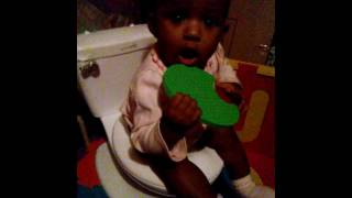 6 month old potty training: Day 1