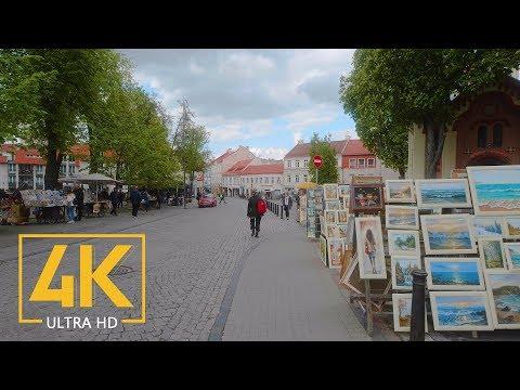 Vilnius, Lithuania - Walking Tour with City Sounds (4K 60fps) - Part #3