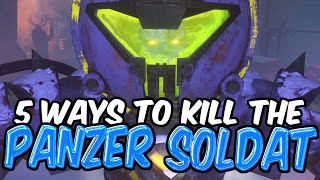 5 Ways to KILL the Panzer Soldat Boss! Der Eisendrache: Black Ops 3 Zombies