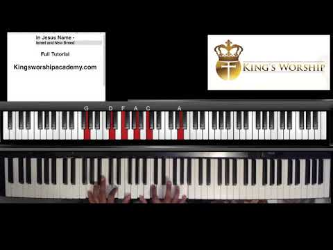 In Jesus Name Piano Chords - Israel And New Breed Cover