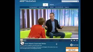 ARD-TV über Vitamin D - Dr. von Helden kommentiert und stellt richtig!