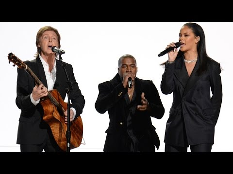 Rihanna, Kanye West, & Paul McCarney FourFiveSeconds 2015 Grammys Performance