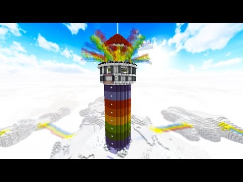 100 vs 2 RAINBOW TOWER OF DEATH - FAN BATTLE! with PrestonPlayz & MrWoofless - Видео из Майнкрафт (Minecraft)