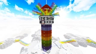 100 vs 2 RAINBOW TOWER OF DEATH - FAN BATTLE! with PrestonPlayz & MrWoofless