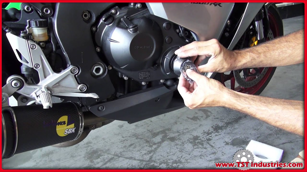 how to 2008 2016 honda cbr 1000rr engine clutch cover crash protector install by tst industries [ 1280 x 720 Pixel ]
