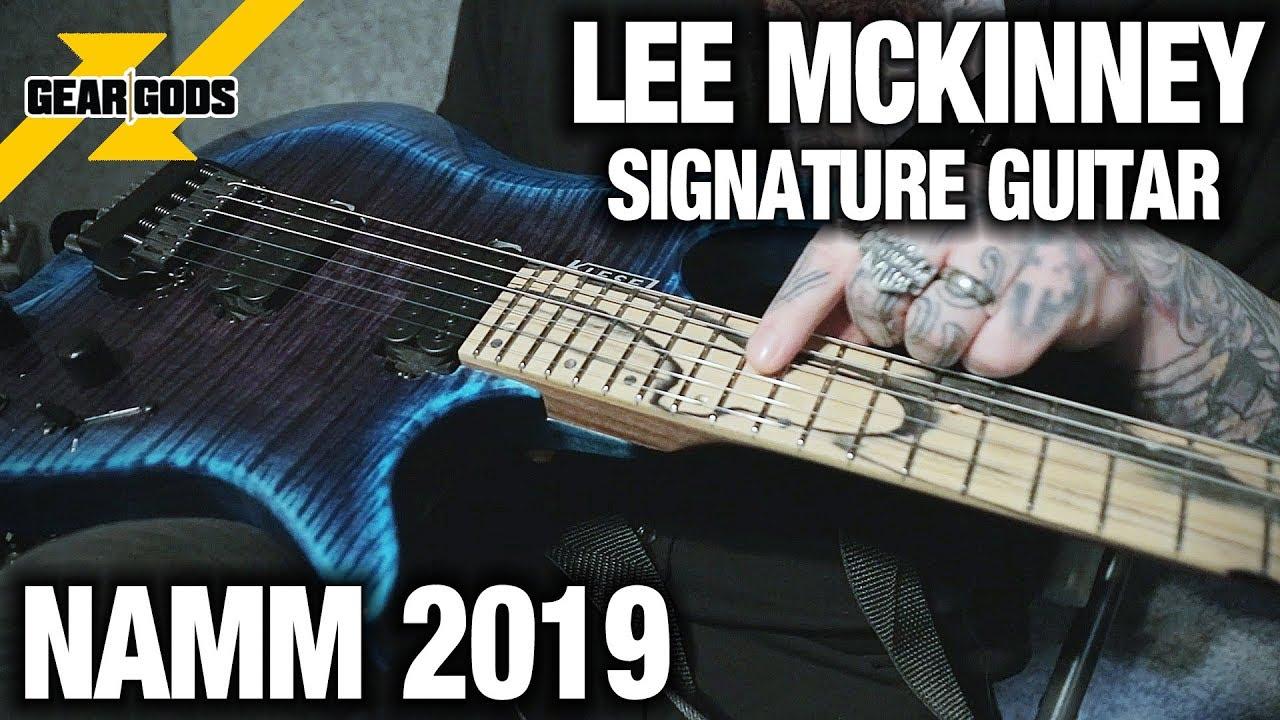 NAMM 2019 - LEE MCKINNEY of BORN OF OSIRIS  New Signature Kiesel Guitar  efda373313f1