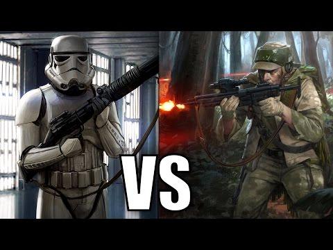 Stormtroopers vs Rebel Soldiers - Star Wars Versus