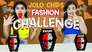 EATING WORLD'S HOTTEST JOLO CHIPS  | ONE HAND FASHION CHALLENGE | DIYQueen