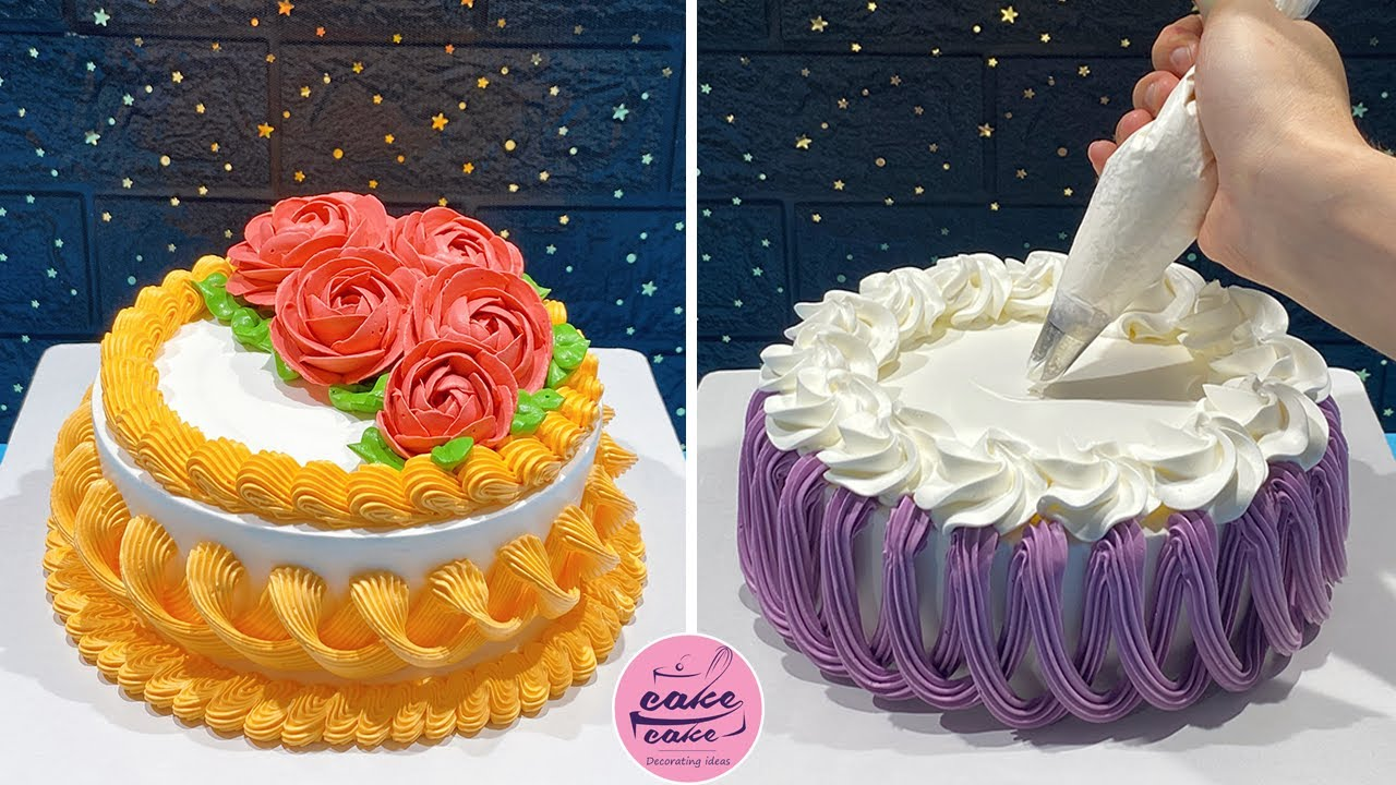 Awesome Cake Decorating With Nozzles | Simple Cake Decorating Ideas | Cake Dessert Recipe