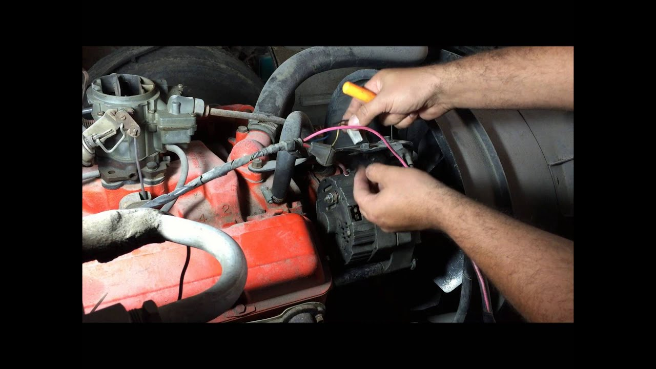 externally regulated alternator to internally regulated conversion easy way gm how to [ 1280 x 720 Pixel ]