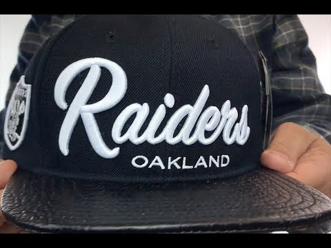 33f1edd2347 Raiders  TEAM-SCRIPT STRAPBACK  Black Hat by Pro Standard - YouTube