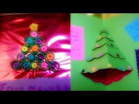 navidad tarjeta d decorada con filigrana