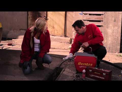 Video Rohrreinigungsspirale - Rentas Werkzeugvermietung