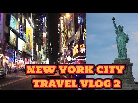 நியூ யார்க் சிட்டி   NEW YORK CITY TRAVEL VLOG 2  LIBERTY STATUE 2017