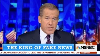Brian Williams Warns About 'Fake News' 😂