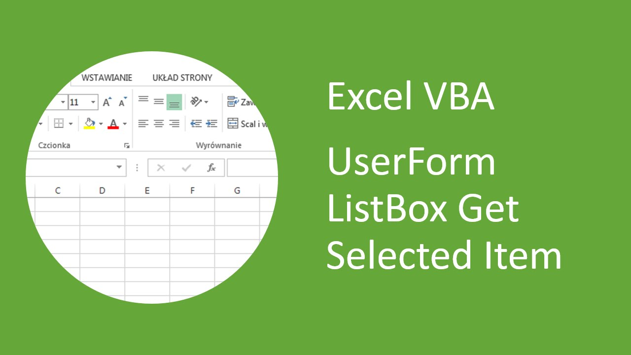 Excel VBA UserForm Listbox Get Selected Item