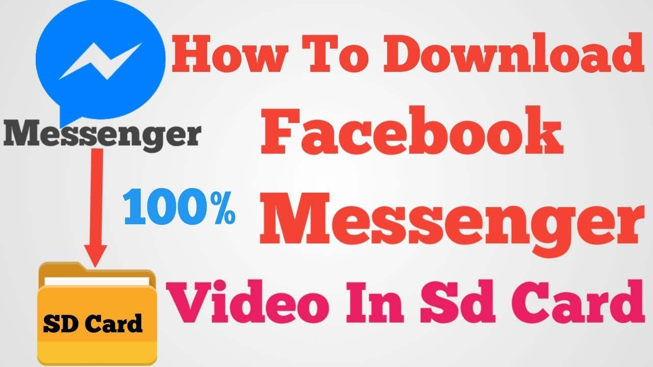 How to download facebook messenger video in sd card | on android mobile (  in hindi )