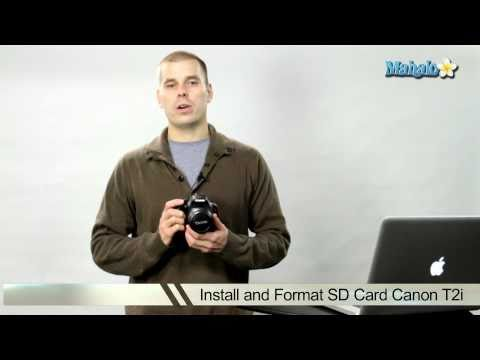How to Install the SD Memory Card on a Canon T2i DSLR