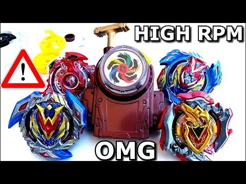 Burst REV UP Launcher MOD Beyblade GUIDE and TESTING! High Speed RPMベイブレードバースト 超ゼツ