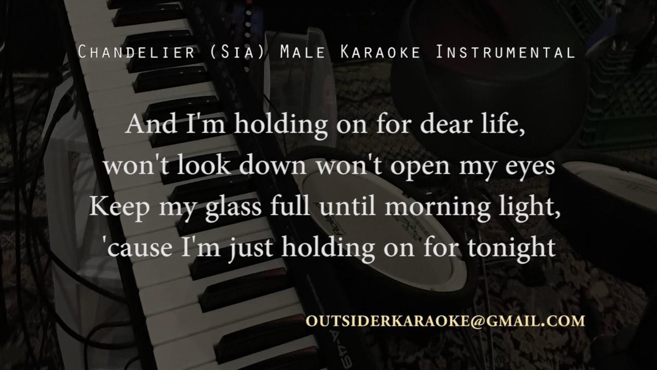 Chandelier (Sia) Male Karaoke Instrumental - acoustic version ...