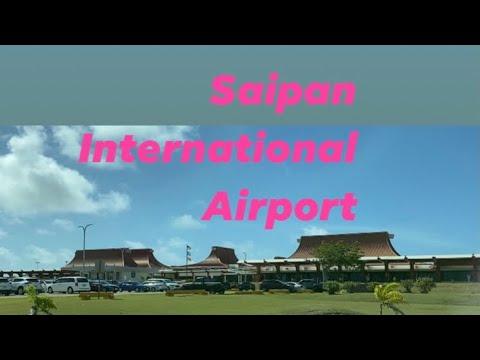 dropping my son at the domestic airport!  (Saipan, USA )