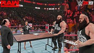 WWE 2K19: Brock Lesnar vs Braun Strowman Royal Rumble 2019 Contract Signing - Scenario RAW 12/31/18
