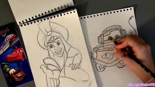 Cars 2 Stationery Kit Art Supplies with Erasers, pencils, markers, notepad Disney Pixar Goofy Mater