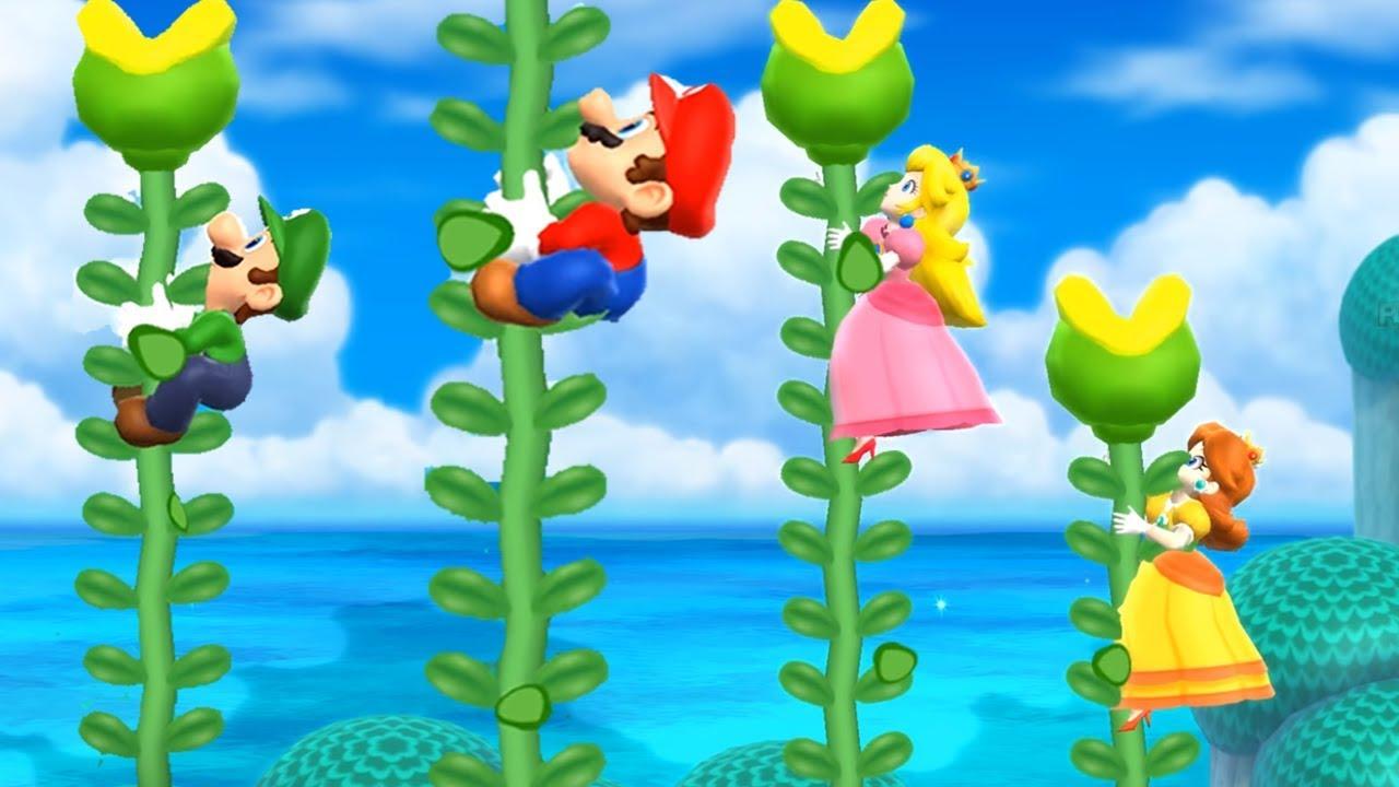Mario Party 9 Bowser Station Peach Vs Daisy Vs Wario Vs Mario