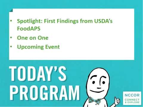 Connect & Explore: First Findings from USDA's FoodAPS