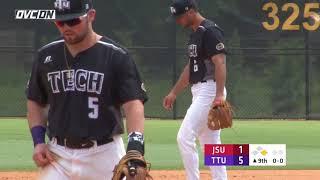 2018 OVC Baseball Tournament Highlights - #4 Jacksonville St 2, #1 Tenn Tech 5 - May 24, 2018