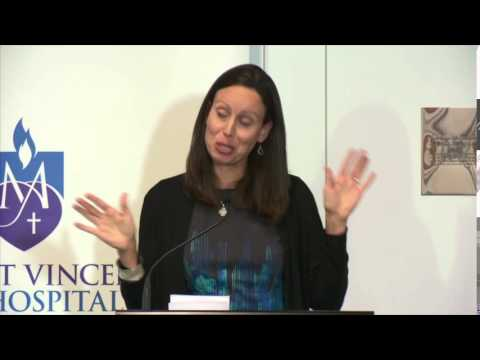 Jacquelline Fuller discussing philanthropy for St Vincent's Curran ...