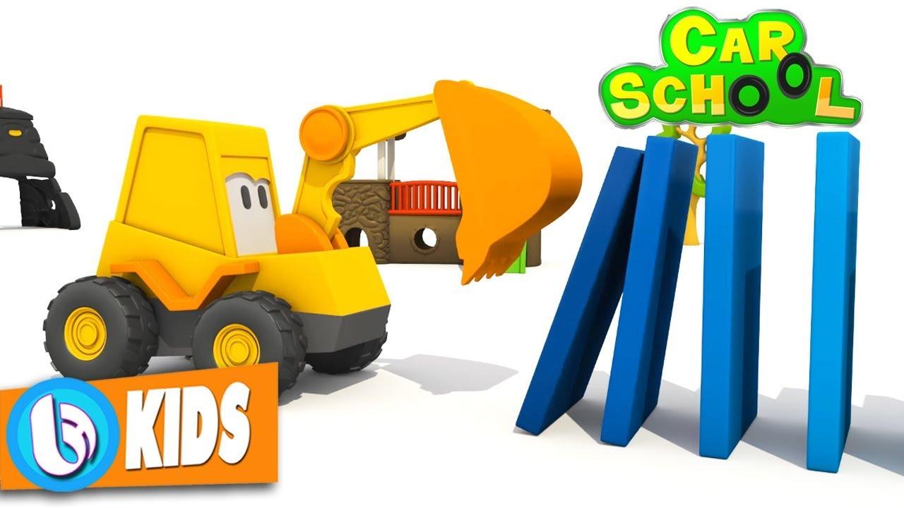 Xe Máy Xúc Cát và Domino – Phim Hoạt Hình 3D Đồ Chơi Trẻ Em Vui Nhộn