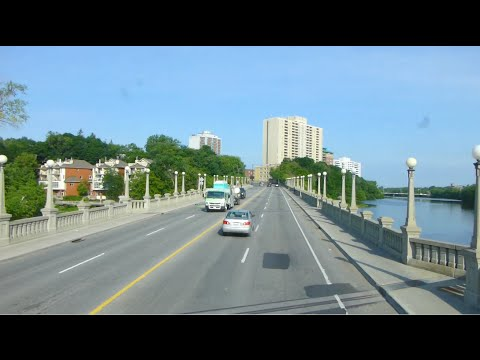 RARE - OC Transpo Double Decker Bus on Route 12 Bank - from Blair to Rideau Centre