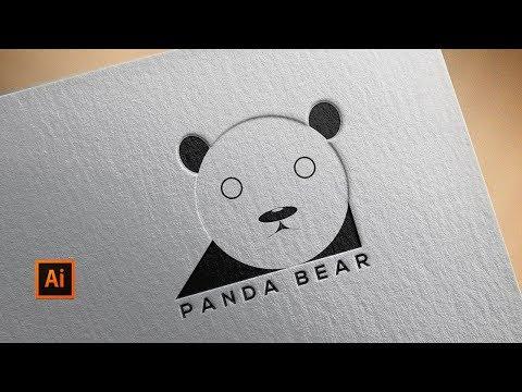 Panda Bear Logo Design Tutorial    Adobe Illustrator thumbnail