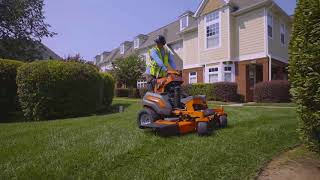 Husqvarna Stand-On Mower V500 In Action