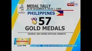 Bt: Nangunguna Pa  Rin Ang Pilipinas Sa Medal Tallies Sa 30th Sea Games