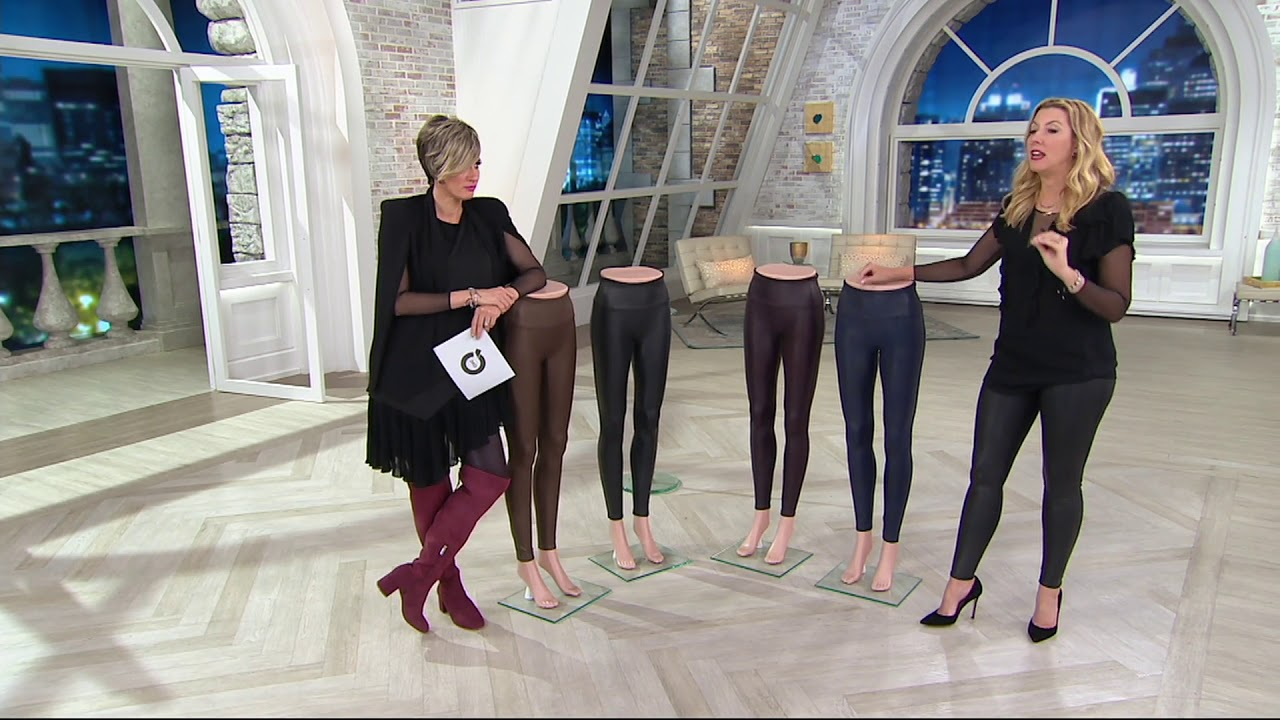 Spanx Faux Leather Leggings On Qvc Youtube